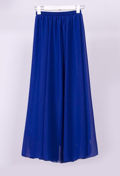skirts skirt royal blue chiffon fully lined mini to