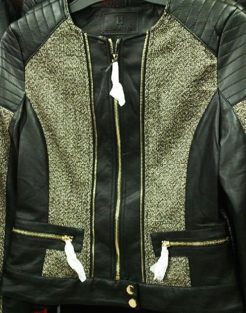 Ladies Quilted Leather Jacket