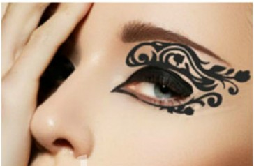 New face lace instant eyeshadow sticker tattoo makeup for Face tattoo makeup