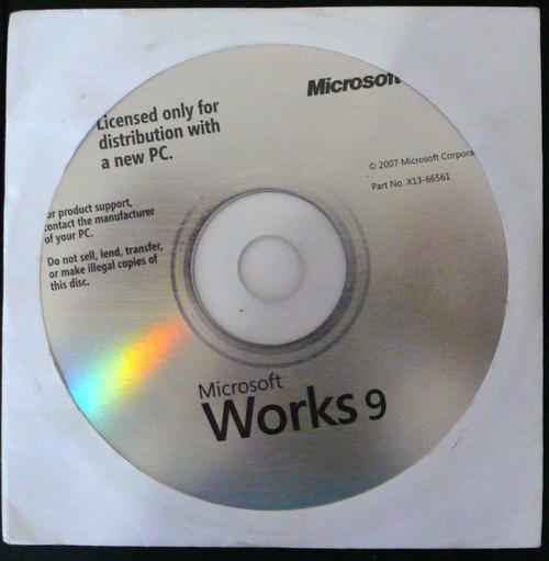 MS Office MICROSOFT WORKS 9 Is Microsoft