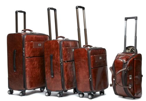 Luggage Sets 4 Piece Pu Leather Vintage Trolley Luggage