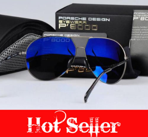 Sunglasses Last Stock Porsche Design P8000 Series Designer Luxury Fashion Aviator