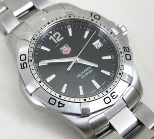 Men's Watches - TAG Heuer Aquaracer mens black face was ...