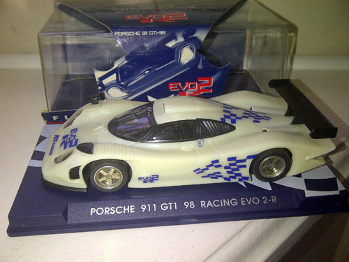 cars scalextric fly racing porsche gt1 98 evo2r le mans lightweight rare new no reserve 1 32. Black Bedroom Furniture Sets. Home Design Ideas