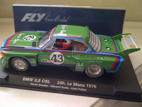 cars scalextric fly bmw 3 5 csl batwing green 24h le mans 1976 rare brand new no reserve 1 32. Black Bedroom Furniture Sets. Home Design Ideas