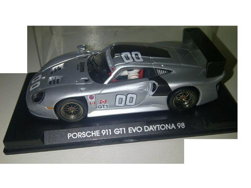 cars scalextric fly porsche 911 gt1 evo le mans daytona 2000 test car used rare 1 32 slot car. Black Bedroom Furniture Sets. Home Design Ideas