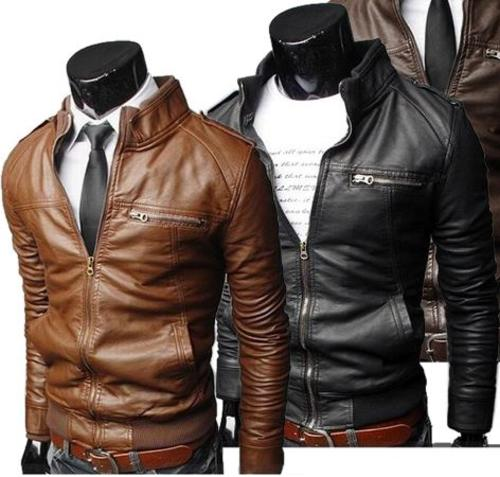 Coats & Jackets - Men PU Leather Jacket Coat ( Brown medium colour only ) was sold for R350.00 on 20 Feb at 13:31 by Zibbedy in Johannesburg (ID:176190856