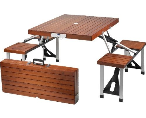 Furniture Fold Up Picnic Table And Chairs Set Was Sold For On 11 Nov At 23 16 By Shop