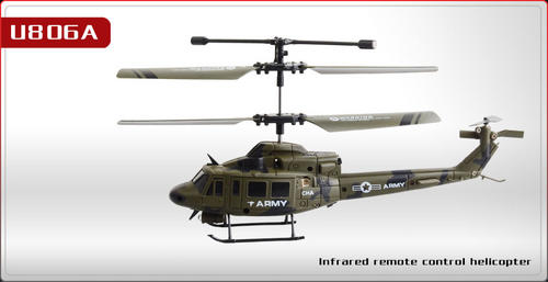 NEW UDI 806A INDOOR RC HELICOPTER - MILITARY DESIGN