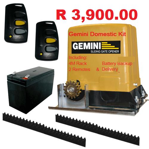 Personal security gemini domestic 500kg sliding gate for Sliding gate motor kit