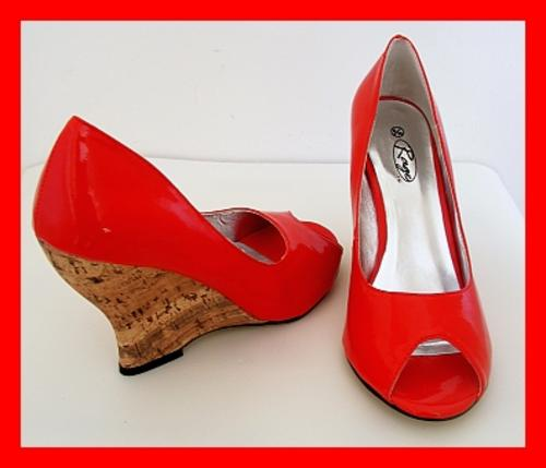 shoes size 6 cork wedge heel shoes from rage was