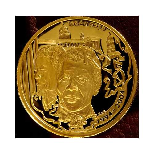 Gold Amp Bullion Coins Ten Year Democracy Mandela Gold