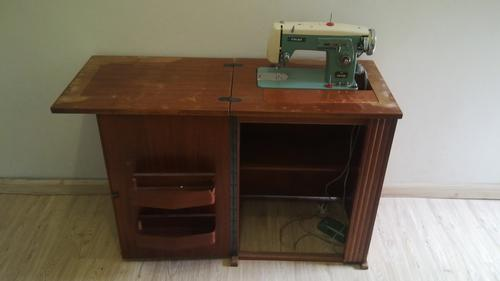 sewing machines overlockers vintage frick sewing machine with cabinet for sale was listed. Black Bedroom Furniture Sets. Home Design Ideas