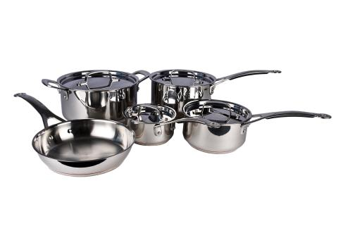 cookware sets bargain jamie oliver tefal professional series stainless steel 9 piece. Black Bedroom Furniture Sets. Home Design Ideas