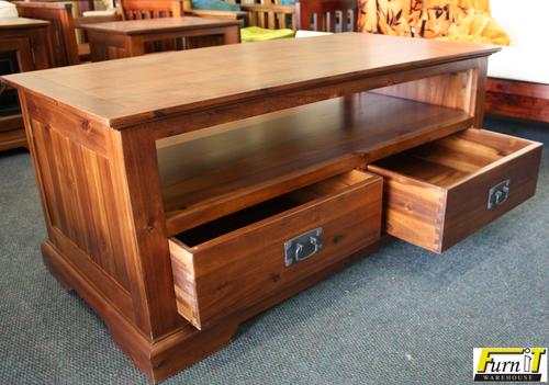 Tables Coffee Table With 2 Drawers Solid Wood High Quality Walnut Finish Was Listed For