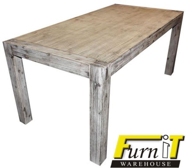 White Washed Wood Dining Table Albertine Zinc Top Solid  : 1334597141019135859GabrielladiningtablewithFurniTlogo01 from honansantiques.com size 632 x 570 jpeg 32kB